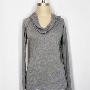 Zella Ruched Cowl Neck Hooded Pullover